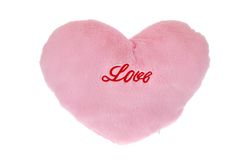 Plush heart isolated Stock Image