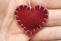 Plush Heart Royalty Free Stock Photo