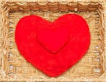 Plush hearts Stock Image
