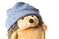 Free Plush Hedgehog In A Hat. Soft Toy Stock Photography - 161638332
