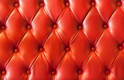 plush red leather Stock Photography