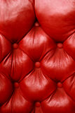 Plush red leather Royalty Free Stock Photography