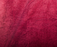 Plush Red Towel Texture royalty free stock photography