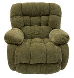 Plush Rocker Recliner. Big and Plush Rocker Recliner in Sage Acrylic Fabric Royalty Free Stock Photography