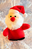 Plush santa decoration Royalty Free Stock Photography