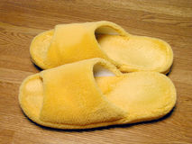 Plush slippers Stock Images