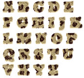 Plush Spotted Fur Alphabet Stock Image