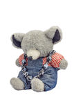 Plush teddy bear with chaplet Stock Image