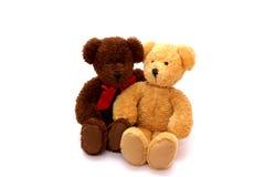 Plush teddy bear couple Royalty Free Stock Image