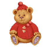 Plush teddy bear Royalty Free Stock Photography