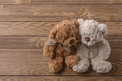 Plush Teddy bears couple. In Hungary Stock Images