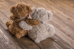 Plush Teddy bears. In Hungary Royalty Free Stock Photography