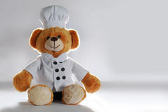 Plush Teddy Chef. Plush Toy Chef bear cloth Royalty Free Stock Images