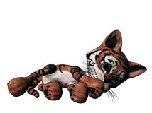 Plush tiger illustration  Royalty Free Stock Images
