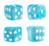 Plush toy dice isolated Stock Images