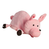 Plush toy pig cap isolated Stock Photos