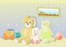Plush toys bunny Stock Photo