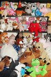 Plush toys for children in kids room Stock Image