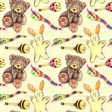 Plush toys pattern Royalty Free Stock Image