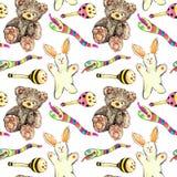 Plush toys pattern Stock Photo