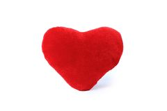 Plush valentine'Plush valentine'ss hearts isolated Royalty Free Stock Photography