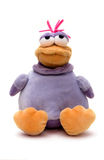 Plush violet duck Stock Images