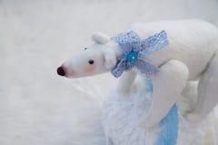 Plush white bear Royalty Free Stock Photo