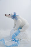 Plush white bear Stock Photography