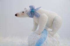 Plush white bear Stock Image