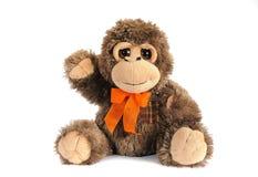 Plushy игрушка обезьяны стоковая фотография rf