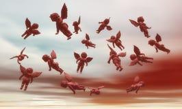Plusieurs anges en ciel. illustration libre de droits