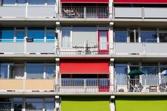 Plusieurs balcons d'une construction Photos stock