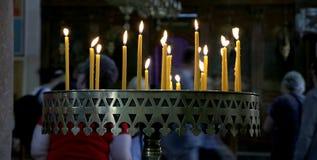 Plusieurs bougies Images libres de droits