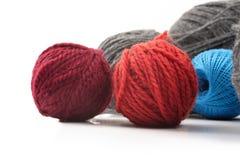 Plusieurs boules de laine Photographie stock