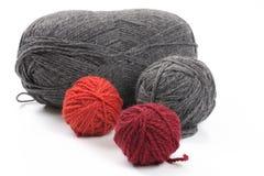 Plusieurs boules de laine Image stock