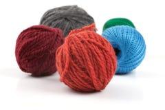 Plusieurs boules de laine Photo libre de droits