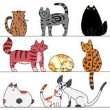 Plusieurs chats illustration de vecteur