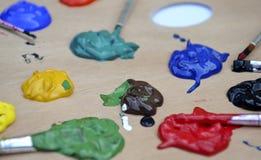 Plusieurs couleurs de peinture Photographie stock libre de droits