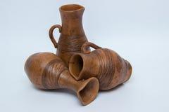 Plusieurs cruche en céramique Images stock