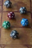 Plusieurs cubes colorés Images stock