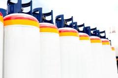 Plusieurs des réservoirs à gaz Photos libres de droits