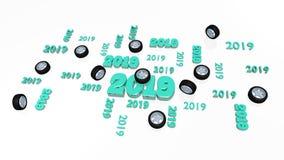 Plusieurs folâtrent des conceptions de la roue 2019 avec quelques roues illustration stock