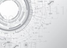 Plusieurs fond de technologie de circuit illustration stock