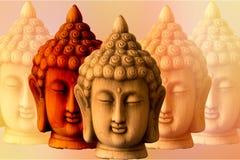 Plusieurs images d'un Bouddha Photographie stock
