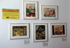 Plusieurs images des enfants dansant dans d'autres cultures, visant pour partager la vie d'autres pays, musée de danse, Saratoga, Photos libres de droits