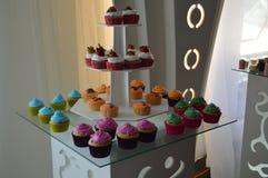 Plusieurs mini gâteaux Photographie stock libre de droits