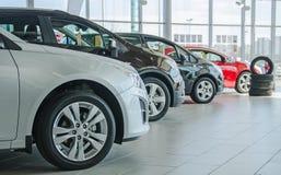 Plusieurs nouvelles voitures Images libres de droits