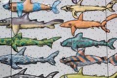 Plusieurs papier peint de requin Images stock