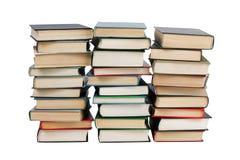 Plusieurs piles de livres image stock