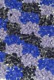 Plusieurs polymères bleus Photo libre de droits